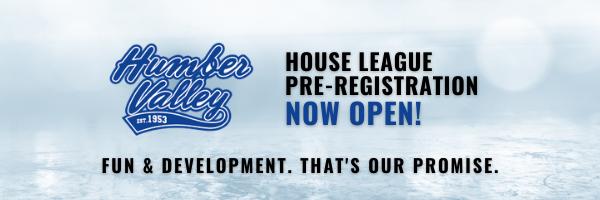 2021-22 House League Pre-Registration NOW OPEN!